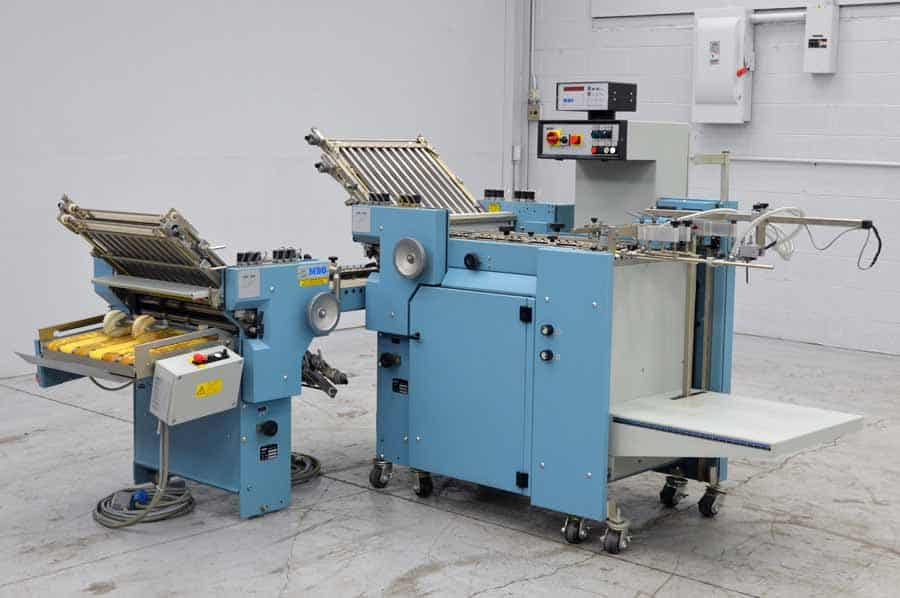 """MBO B120 Pile Feed Paper Folder 20"""" x 28"""" with 8 Page Right Angle"""