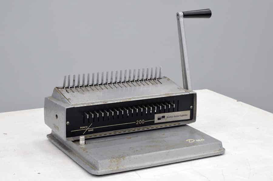 Nineteen Sixties Corporation C Duo 200 Comb Binding Machine