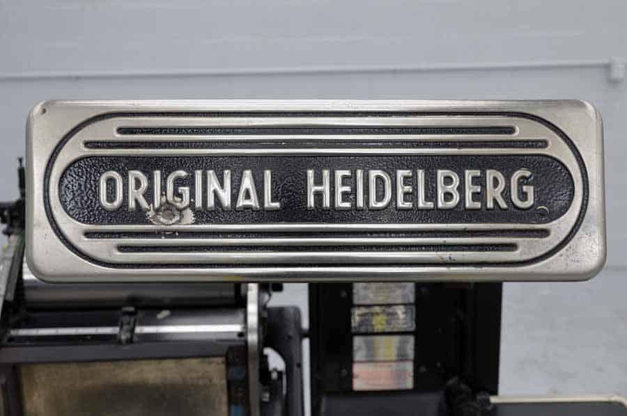 Original Heidelberg 10 x 15 Red Ball Windmill Letterpress