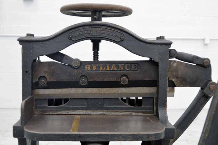 Reliance 16 5 Antique Paper Cutter Boggs Equipment
