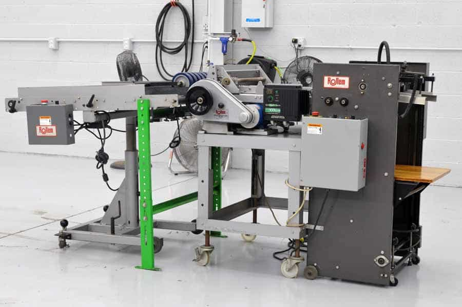 Rollem Champion 990 Perf Slit Score Machine with Stacker