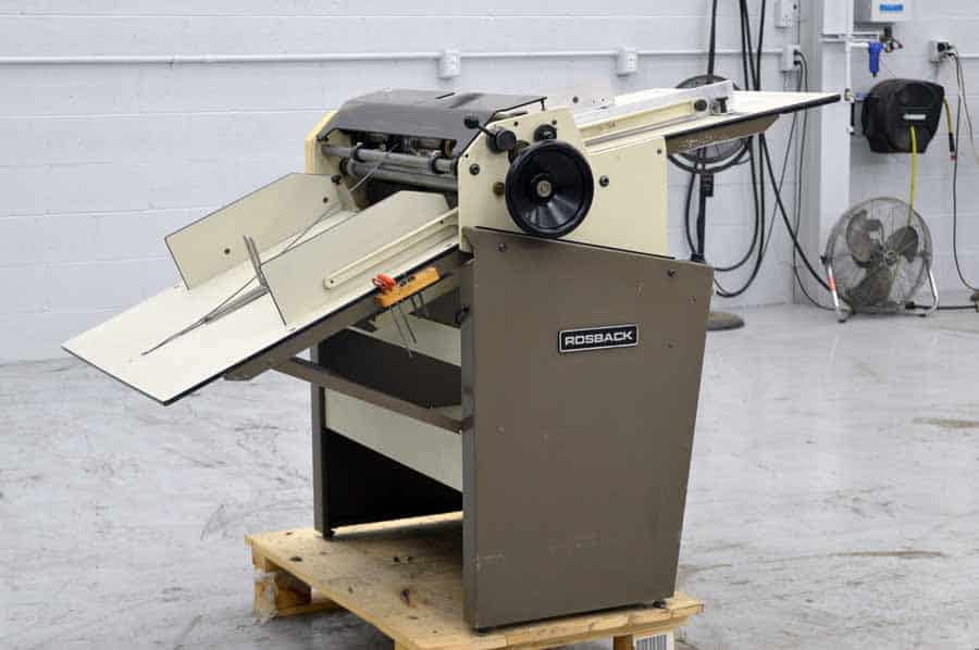 "Rosback 223A 23"" Air Fed Perf Slit Score Machine"