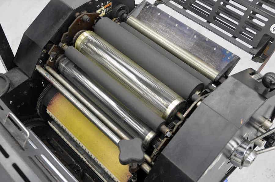Ryobi 3200 MCD Two Color Offset Press