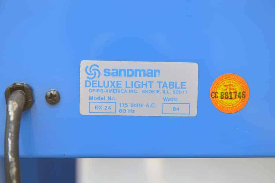 Sandmar DX 24 Deluxe Light Table