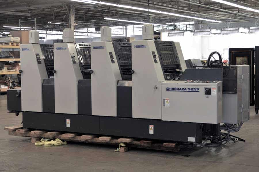 "2001 Shinohara 52IVP Four Color 14"" x 20"" Offset Printing Press"