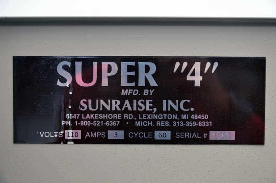 Sunraise Super 4 Business Card Slitter