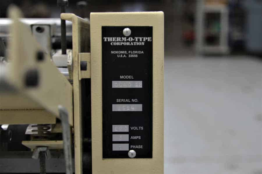 Therm-O-Type Quad 12 Business Card Slitter