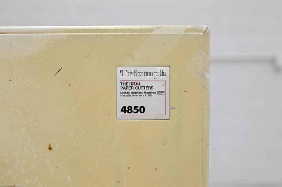 Triumph Ideal 4850 Paper Cutter