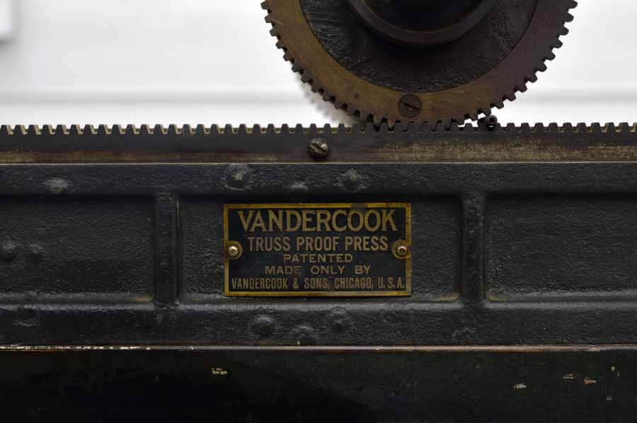 Vandercook No. 1 Truss Proof Press
