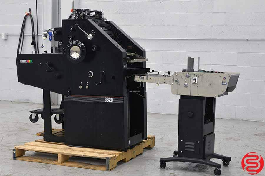 AB Dick 8820 Single Color Offset Press w/ Astro AMC-2000 Envelope Feeder