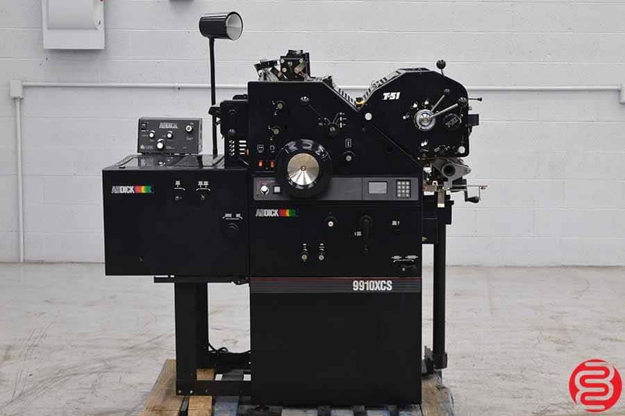 AB DICK Model 9910 XCS Offset Press with T-51 Second Color Unit