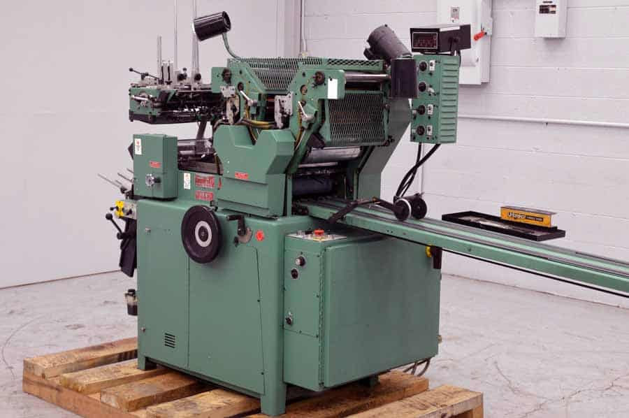 Halm Jet TWOD-6D Two Color High Speed Envelope Press w/ Extended Delivery Conveyor