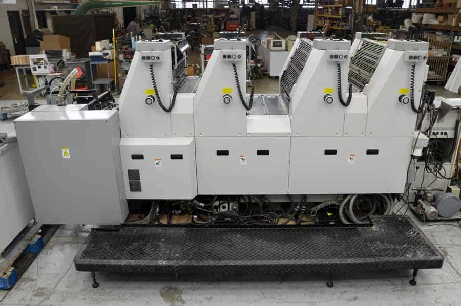 2002 Hamada B452A Four Color Offset Press with Viewing Station