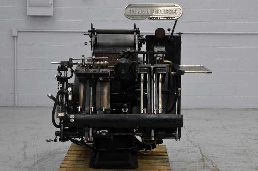 Heidelberg Windmill 10 x 15 Letterpress