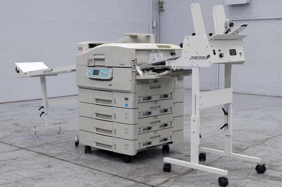 OKI CX3641 Series Color Digital Press w/ Straight Shooter Feeder and Conveyor