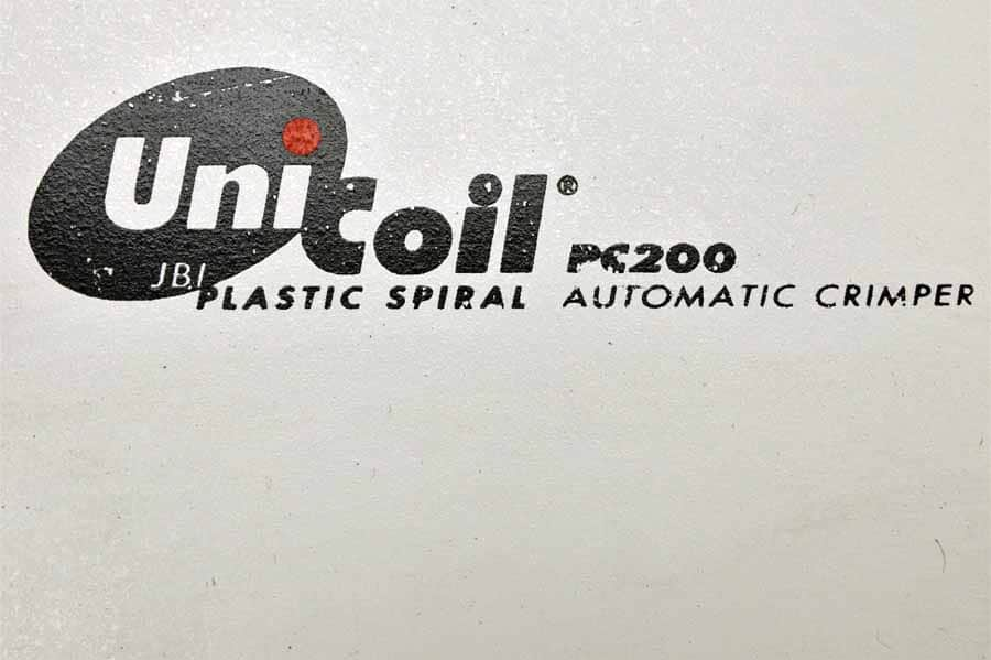 Unicoil PC200 2-Sided Plastic Spiral Automatic Crimper