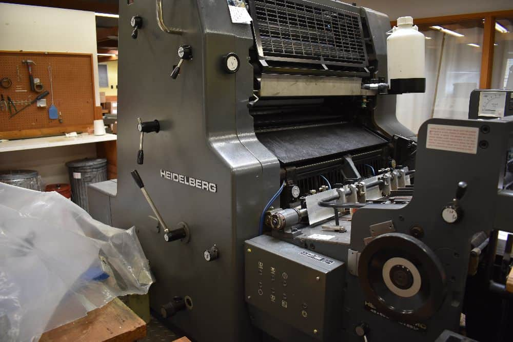 "Heidelber MO 19"" x 25 1/2"" Single Color Offset Press - Only 3.7 Mil Impressions!"