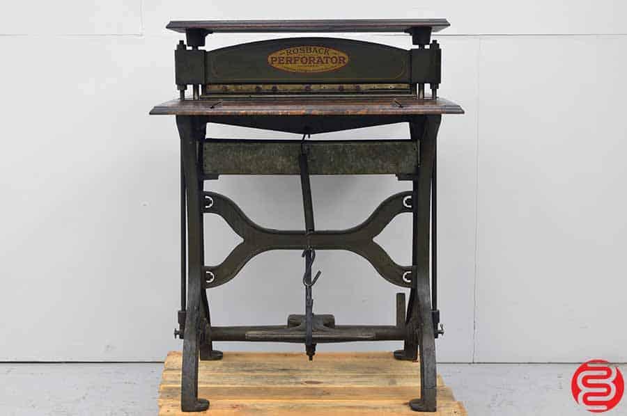 1888 Antique Rosback Perforator