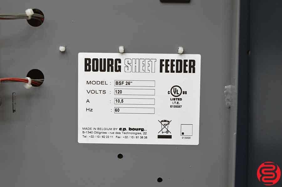 "Bourg BSF 26"" Sheet Feeder"