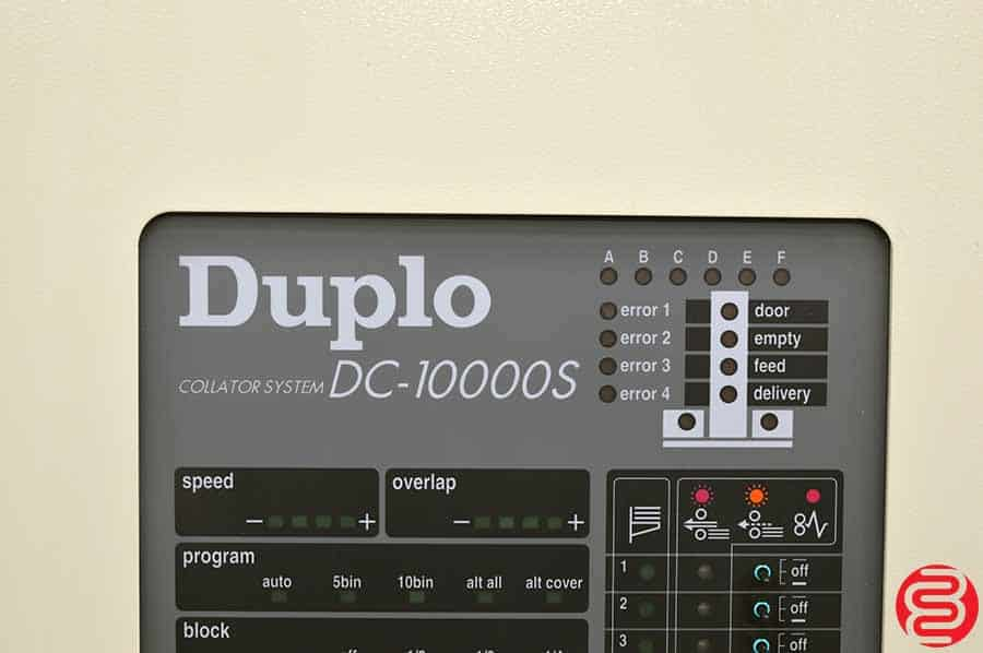 Duplo 4000 Booklet Making System w/ Two 10 Bin Vacuum Collating Towers, Stitch, Fold, and Trim