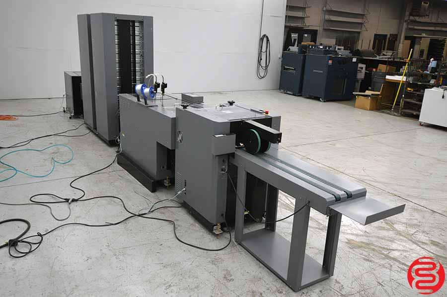 Duplo 5000 Booklet Making System w/ Trimmer, Stacker, and Two 10 Bin Collators