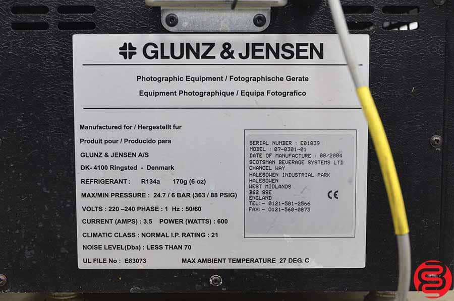 2004 Glunz and Jensen Raptor 68 Polymer Computer to Plate System
