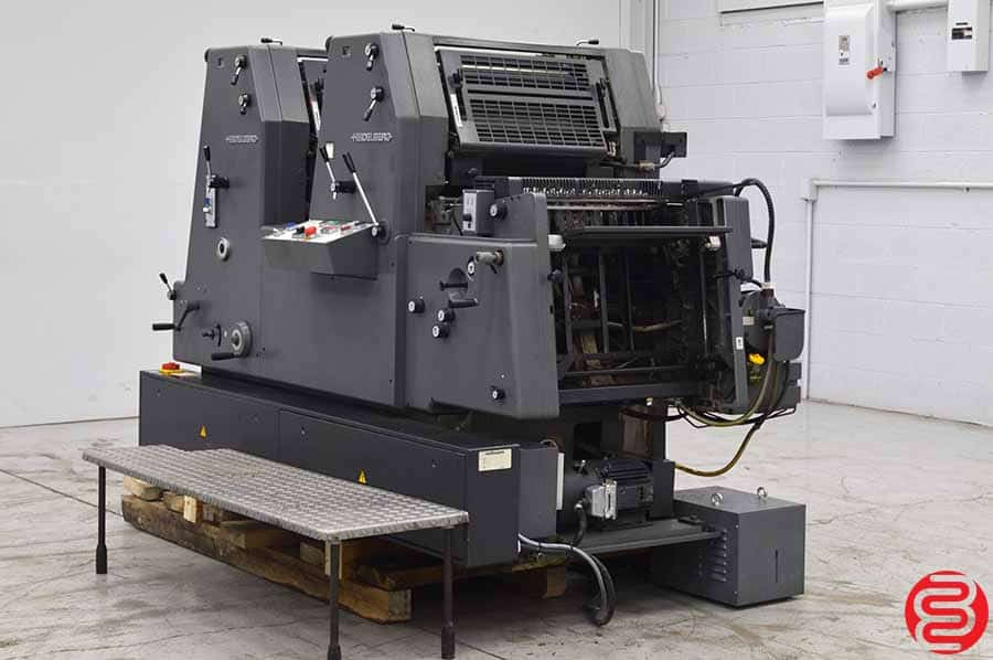 1998 Heidelberg Printmaster 52-2 GTO Two Color Offset Printing Press