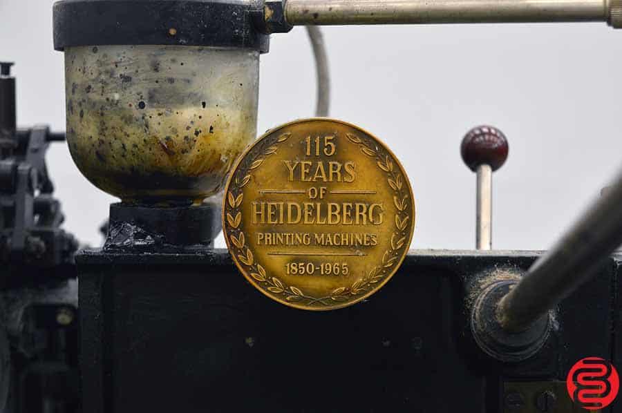 Heidelberg Red Ball Windmill Letterpress w/ Lockout Rollers