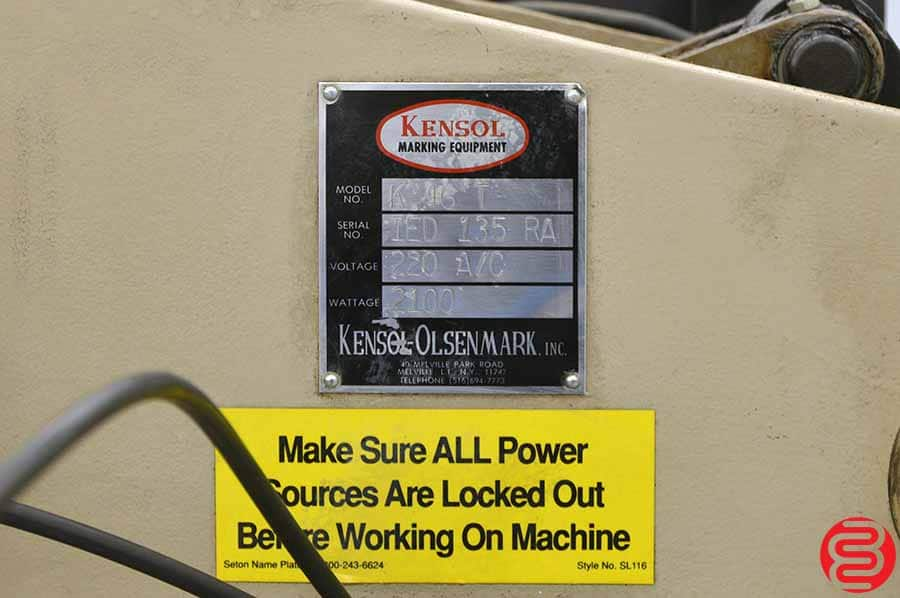 Kensol 46 T Air-Operated Roll Leaf Foil Stamping Press