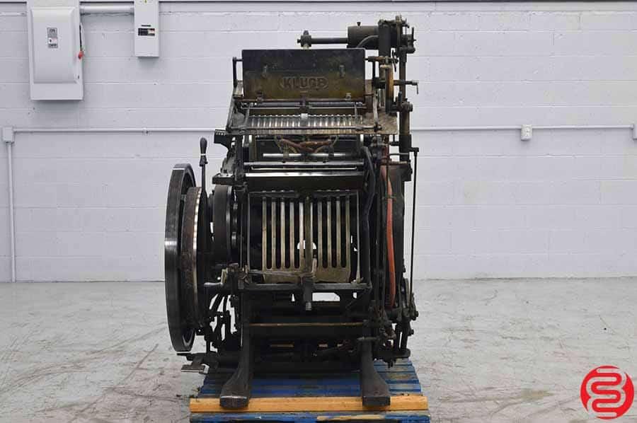 Kluge Automatic Platen Press
