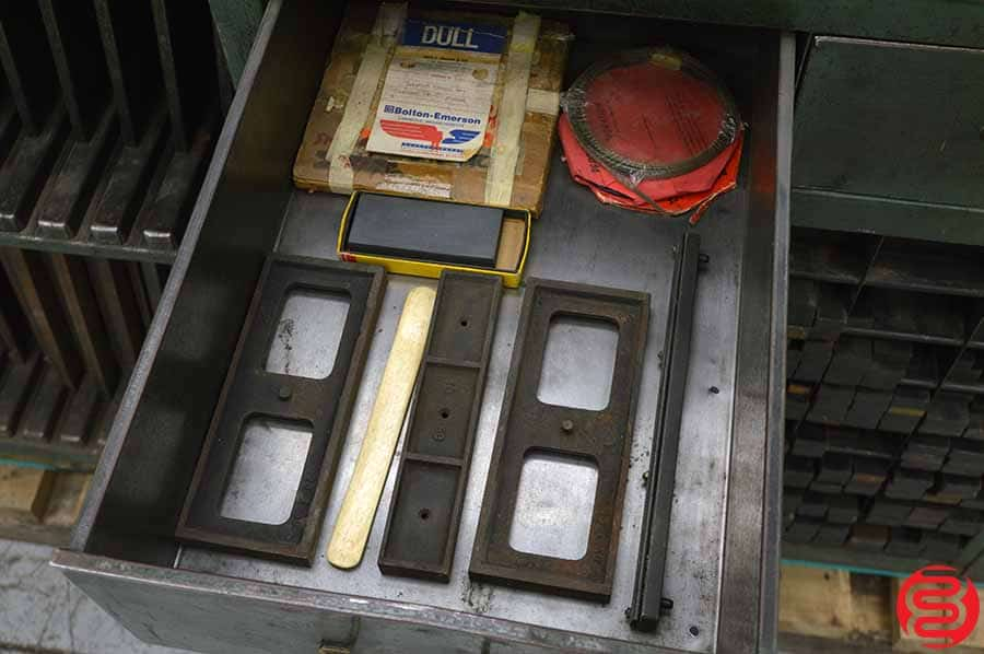 Kramer Keystone Letterpress Cabinet w/ Composing Stone