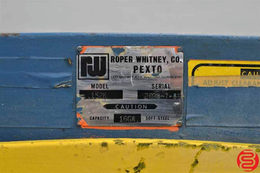 1988 Pexto Roper Whitney 52 Inch 16 Gauge Foot Shear