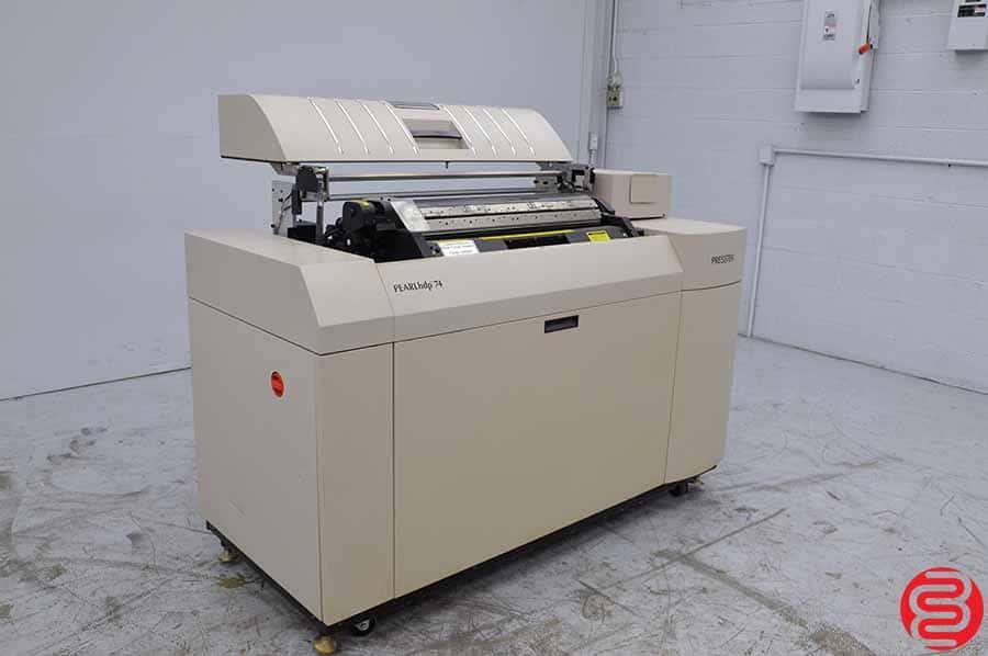 Presstek PEARLhdp 74 Computer to Plate System