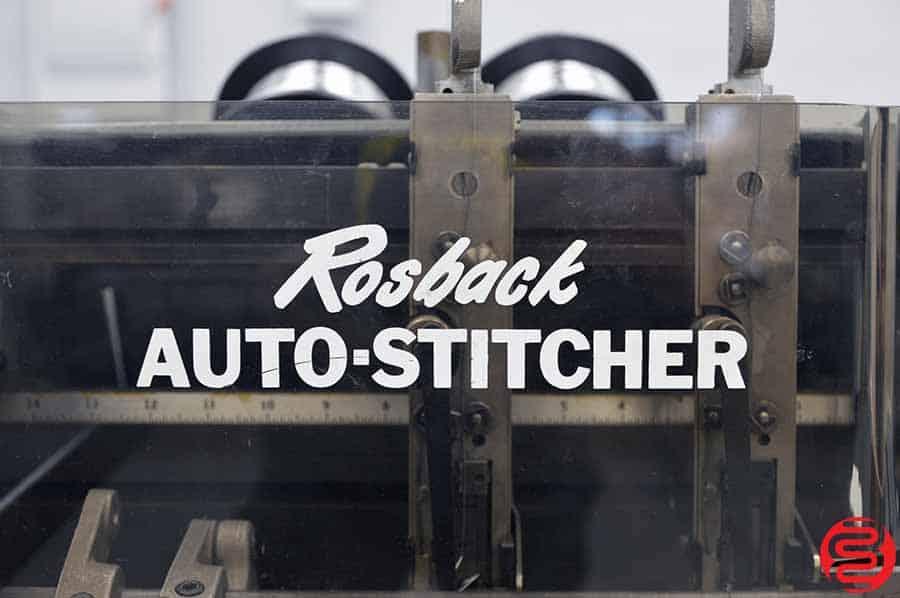 Rosback 201 Book Binding Saddle Stitcher