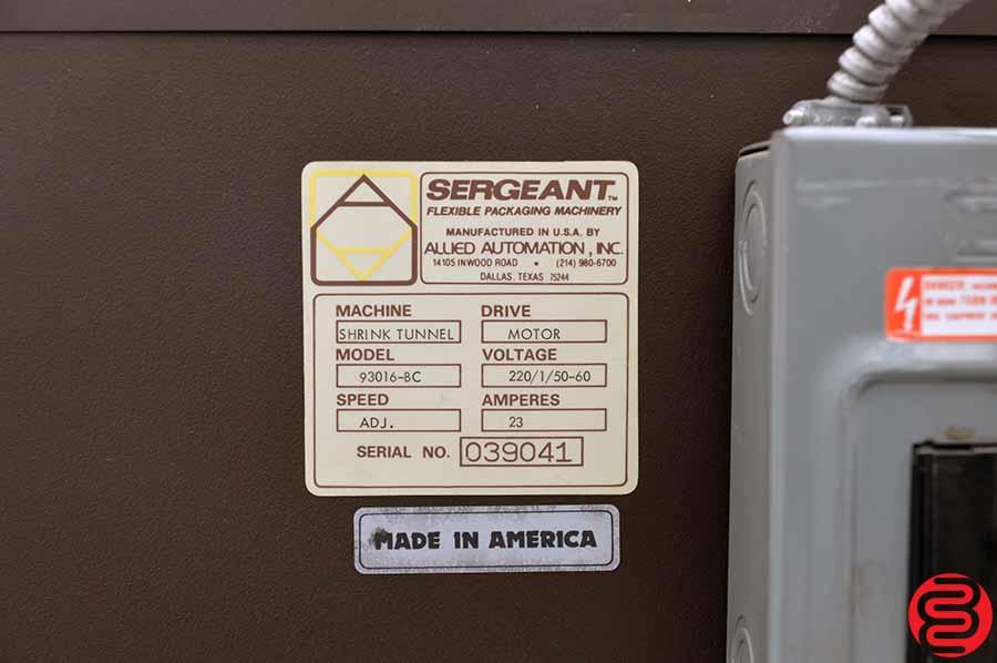 Sergeant Simpulse Shrink Wrap System w/ L-Bar Sealer and Heat Tunnel