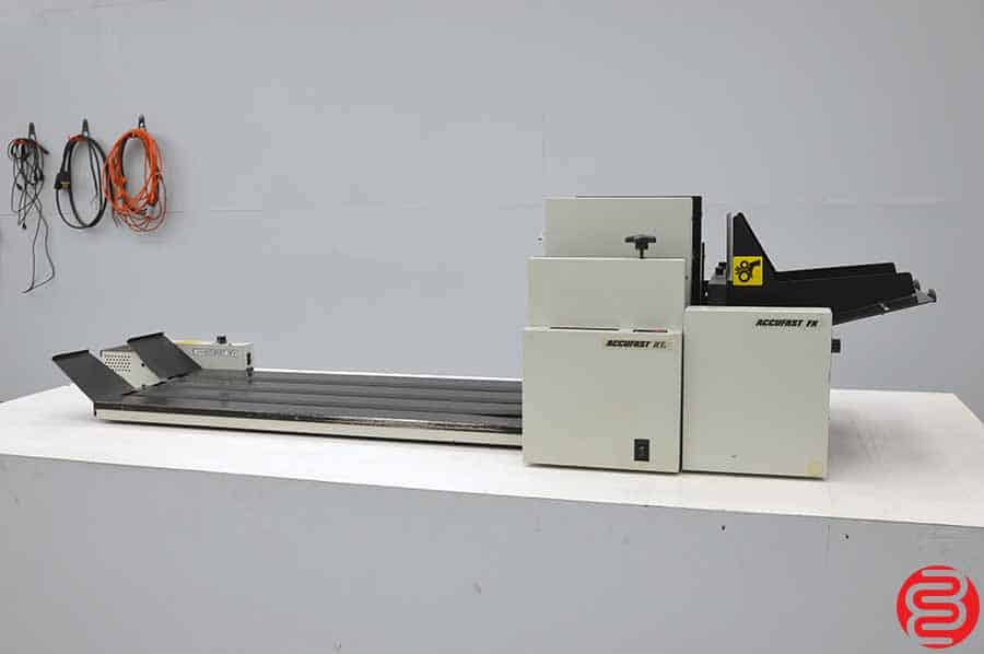 Accufast KT2 Double Head Tabbing System w/ XL Labeler and 3FV Conveyor