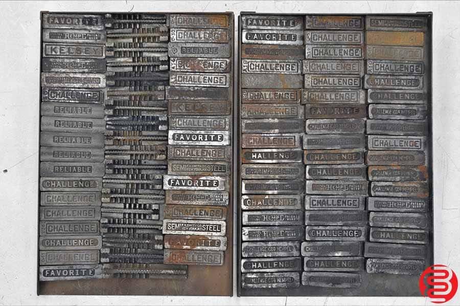 Assorted Letterpress Wedge Quoins