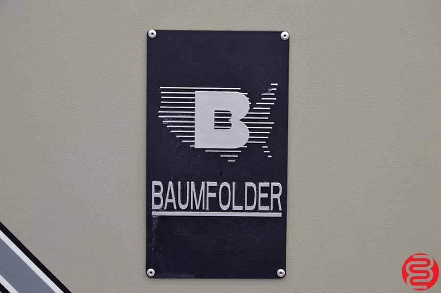 Baum 2020 Pile Feed Paper Folder w/ 8 Page Unit
