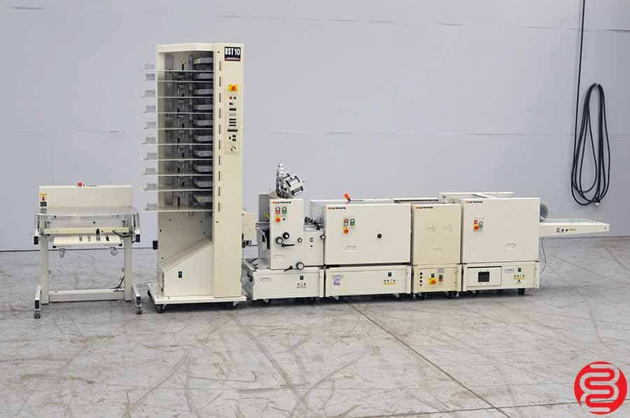 Bourg BST 10 Booklet Making System with Stitcher, Folder, Trimmer, Pressing Unit, Collator