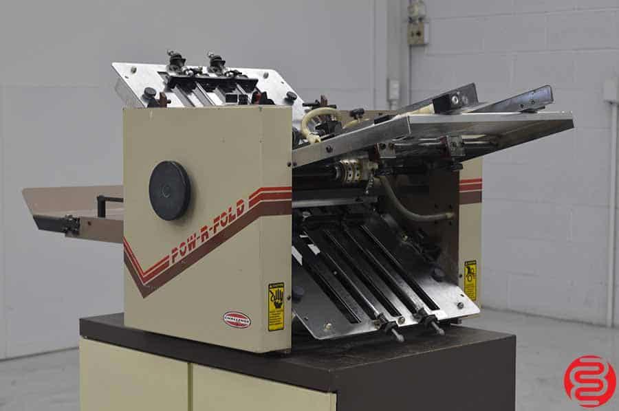 "Challenge Pow-R-Fold Vacuum Feed Paper Folder - 14"" x 20"""