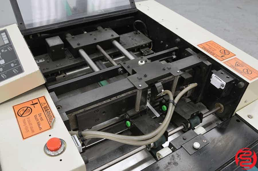 Duplo DBM-250 Booklet Making System w/ Stitcher Folder, Trimmer, and 2 Ten Bin Collators