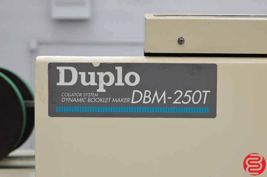 Duplo DBM-250 Booklet Making System w/ Stitcher Folder, Trimmer, and 2 Ten Bin Collators