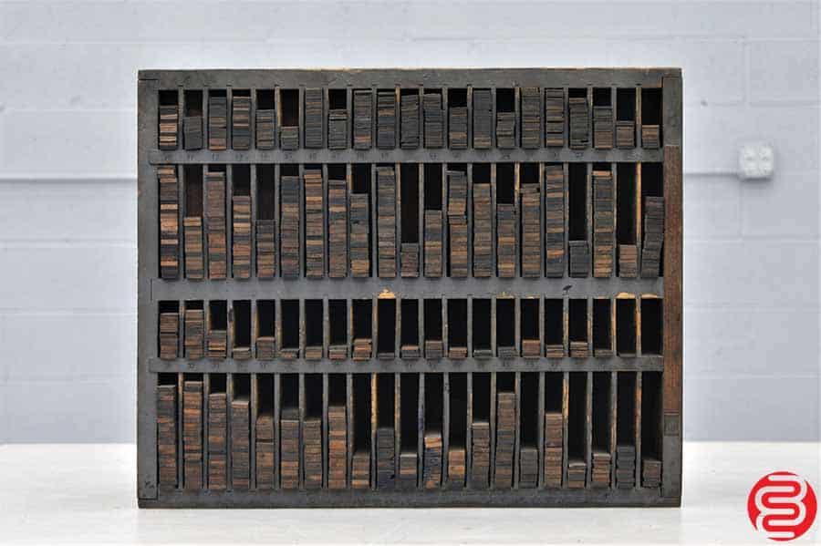Furniture Cabinet w/ Assorted Wood Furniture