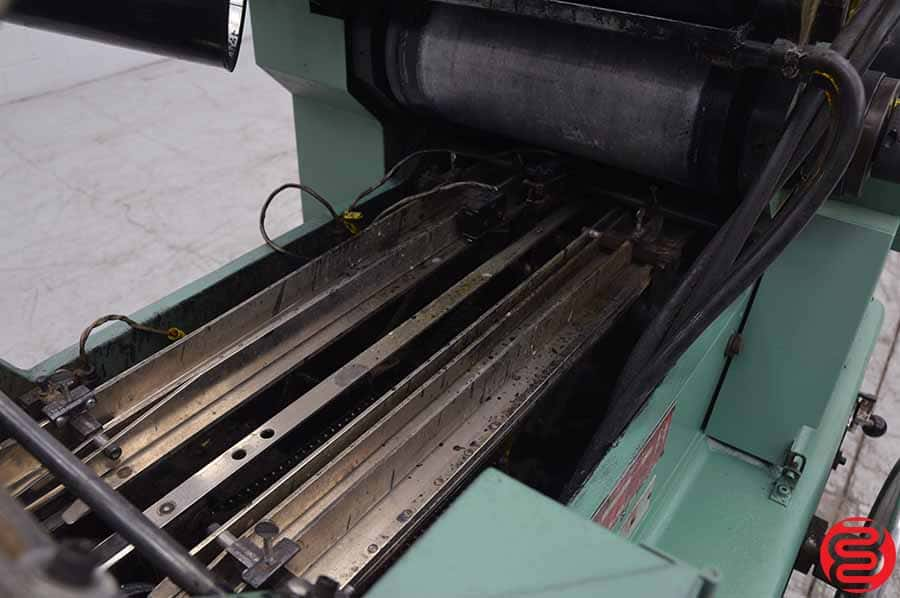 Halm Jet JP-TWOD-6 Two Color High Speed Envelope Press w/ Extended Delivery Conveyor
