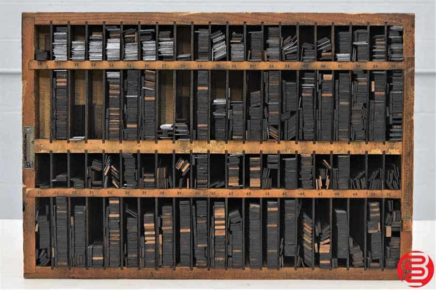Hamilton Letterpress Furniture Cabinet w/ Assorted Furniture