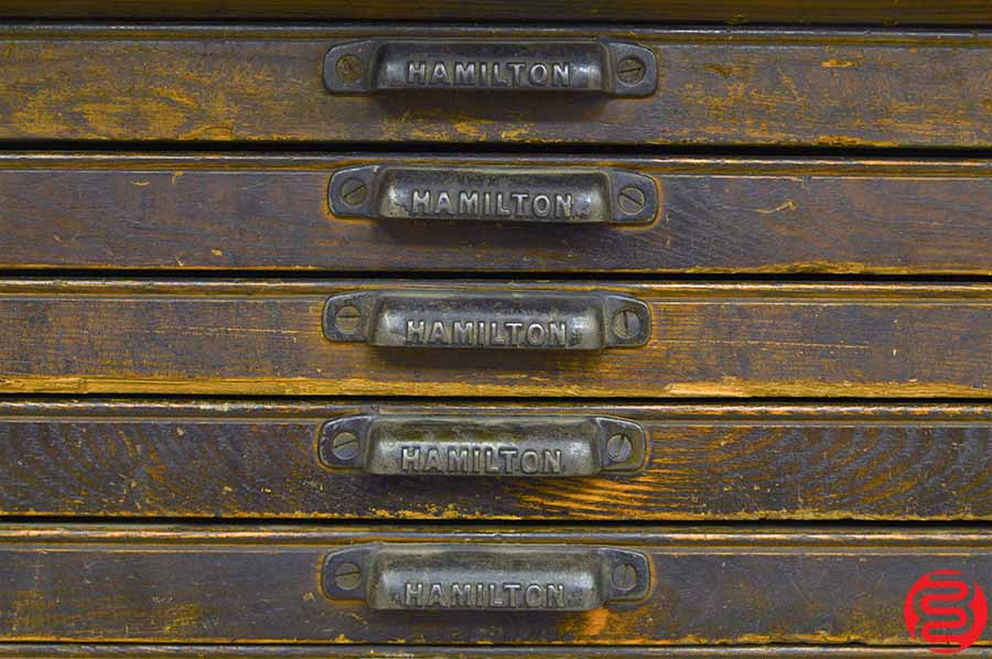 Hamilton Letterpress Type Cabinet w/ Some California Job Cases