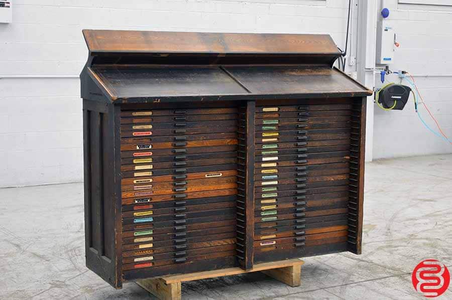 Hamilton Letterpress Type Cabinet w/ Some California Job Cases