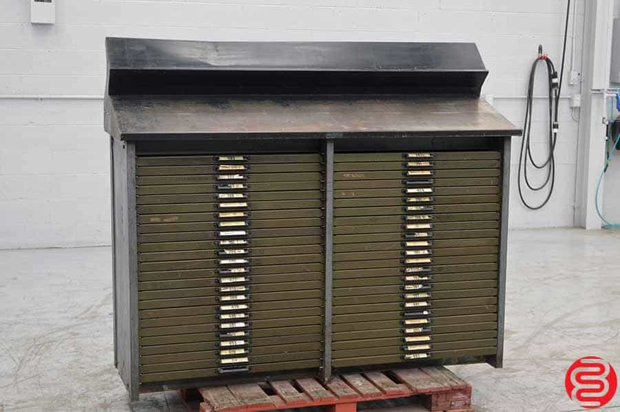 Harry Guckert Letterpress Type Cabinet