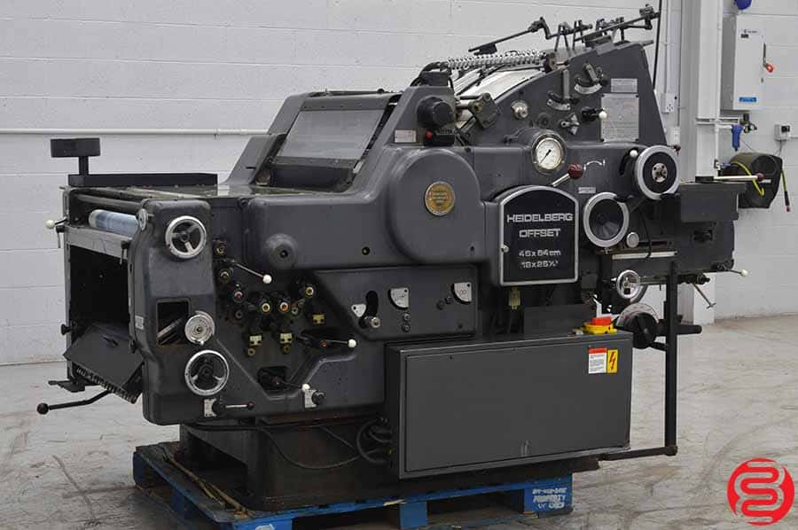 "Heidelberg KORD Printing Press 18 X 25 1/4"" - Long Box"