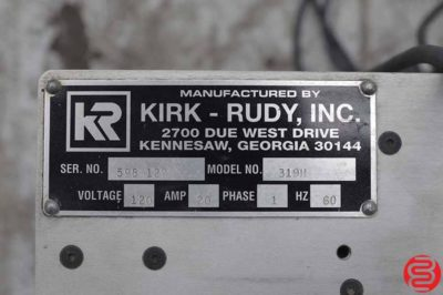 Kirk Rudy 319H Address Labeling System w/ Bryce 4540 Drying System